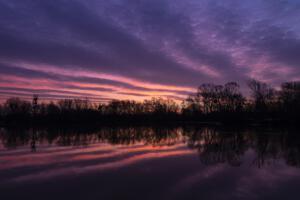 Sonnenaufgänge an der Fulda